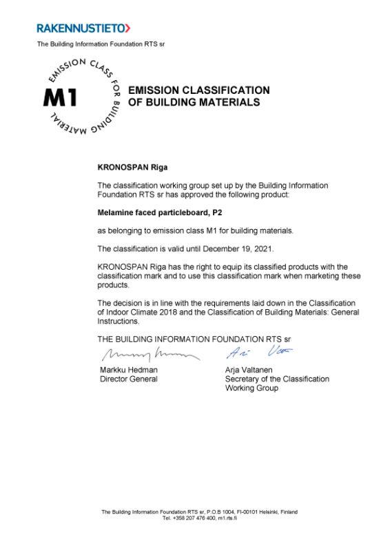 KronospanRiga 3022 MelamineFacedParticleboardP2